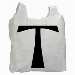 Tau Cross  Recycle Bag (one Side) by abbeyz71
