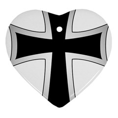 Cross Of The Teutonic Order Ornament (heart) by abbeyz71