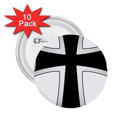 Cross Of The Teutonic Order 2 25  Buttons (10 Pack)  by abbeyz71