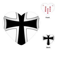 Cross Of The Teutonic Order Playing Cards (heart)  by abbeyz71