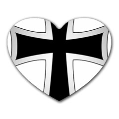 Cross Of The Teutonic Order Heart Mousepads by abbeyz71