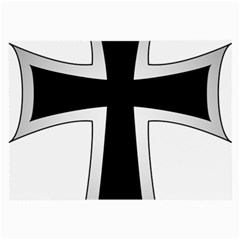 Cross Of The Teutonic Order Large Glasses Cloth (2-side) by abbeyz71