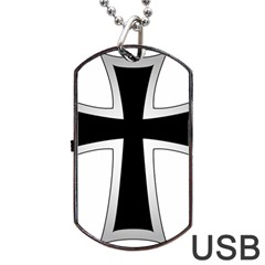 Cross Of The Teutonic Order Dog Tag Usb Flash (one Side) by abbeyz71