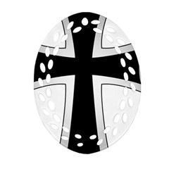 Cross Of The Teutonic Order Oval Filigree Ornament (two Sides) by abbeyz71