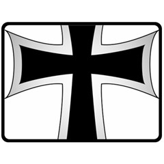 Cross Of The Teutonic Order Double Sided Fleece Blanket (large)  by abbeyz71