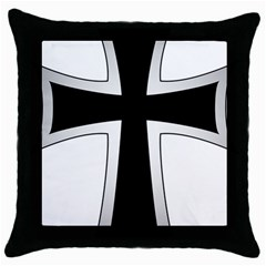Cross Of The Teutonic Order Throw Pillow Case (black) by abbeyz71
