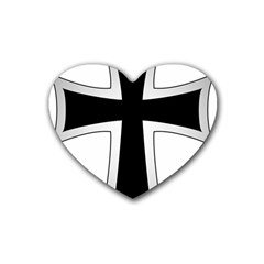 Cross Of The Teutonic Order Rubber Coaster (heart)  by abbeyz71