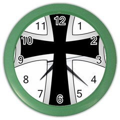 Cross Of The Teutonic Order Color Wall Clocks by abbeyz71