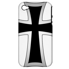 Cross Of The Teutonic Order Apple Iphone 4/4s Hardshell Case (pc+silicone) by abbeyz71