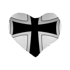 Cross Of The Teutonic Order Standard 16  Premium Heart Shape Cushions by abbeyz71
