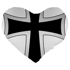 Cross Of The Teutonic Order Large 19  Premium Heart Shape Cushions by abbeyz71