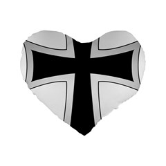 Cross Of The Teutonic Order Standard 16  Premium Flano Heart Shape Cushions by abbeyz71