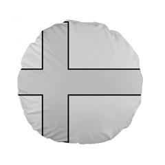 Cross Of Philip The Apostle Standard 15  Premium Flano Round Cushions by abbeyz71