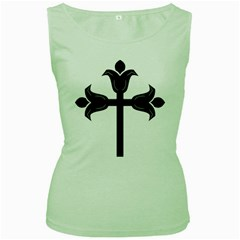 Caucasian Albanian Cross Women s Green Tank Top by abbeyz71