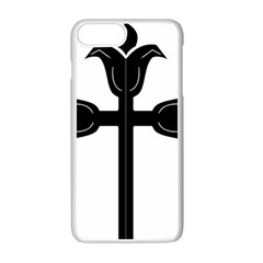 Caucasian Albanian Cross Apple Iphone 7 Plus White Seamless Case by abbeyz71
