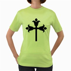 Caucasian Albanian Cross Women s Green T Shirt by abbeyz71