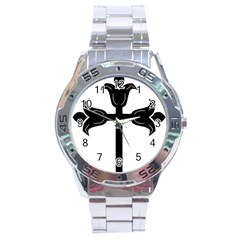 Caucasian Albanian Cross Stainless Steel Analogue Watch by abbeyz71
