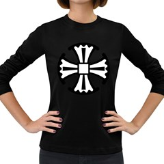 Canterbury Cross  Women s Long Sleeve Dark T-shirts by abbeyz71