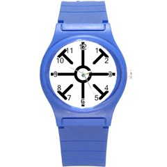 Coptic Cross Round Plastic Sport Watch (s) by abbeyz71