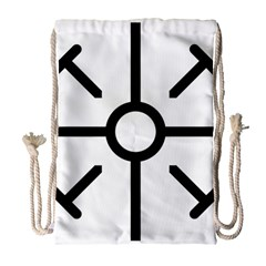 Coptic Cross Drawstring Bag (large) by abbeyz71