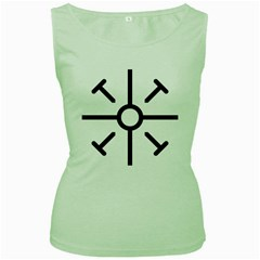 Coptic Cross Women s Green Tank Top by abbeyz71