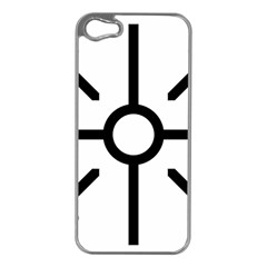 Coptic Cross Apple Iphone 5 Case (silver) by abbeyz71
