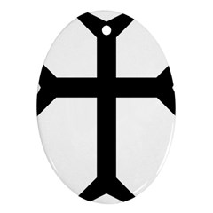 Eastern Syriac Cross Ornament (oval)