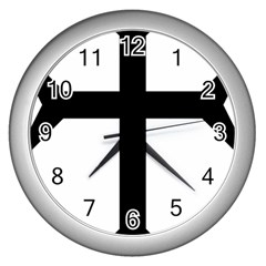 Eastern Syriac Cross Wall Clocks (silver)  by abbeyz71
