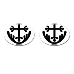 Anuradhapura Cross Cufflinks (oval) by abbeyz71