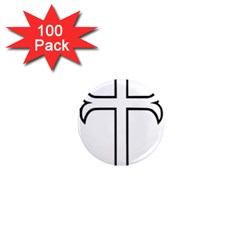 Western Syriac Cross 1  Mini Magnets (100 Pack)