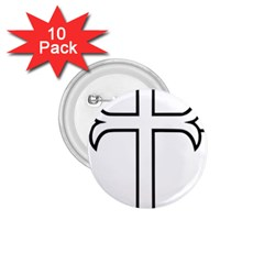 Western Syriac Cross 1 75  Buttons (10 Pack)