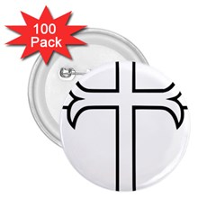 Western Syriac Cross 2 25  Buttons (100 Pack)