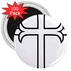 Western Syriac Cross 3  Magnets (100 Pack)