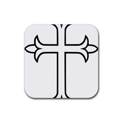 Western Syriac Cross Rubber Square Coaster (4 Pack)  by abbeyz71