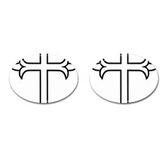 Western Syriac Cross Cufflinks (oval)