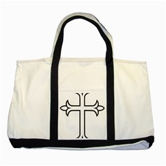 Western Syriac Cross Two Tone Tote Bag