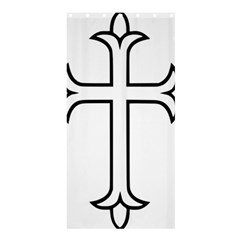 Western Syriac Cross Shower Curtain 36  X 72  (stall)