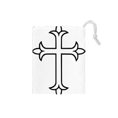 Western Syriac Cross Drawstring Pouches (small)