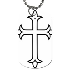 Western Syriac Cross Dog Tag (one Side) by abbeyz71