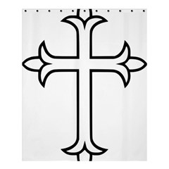 Western Syriac Cross Shower Curtain 60  X 72  (medium)  by abbeyz71