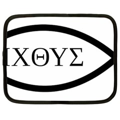 Ichthys  jesus Christ, Son Of God, Savior  Symbol  Netbook Case (large) by abbeyz71