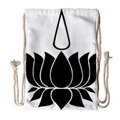 Ayyavazhi Symbol  Drawstring Bag (large) by abbeyz71