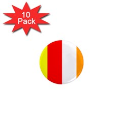 International Flag Of Buddhism 1  Mini Magnet (10 Pack)  by abbeyz71