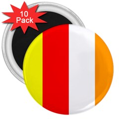 International Flag Of Buddhism 3  Magnets (10 Pack)  by abbeyz71