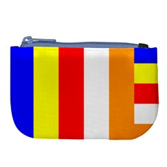 International Flag Of Buddhism Large Coin Purse by abbeyz71