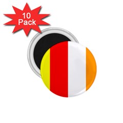 International Flag Of Buddhism 1 75  Magnets (10 Pack)  by abbeyz71