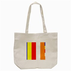 International Flag Of Buddhism Tote Bag (cream) by abbeyz71