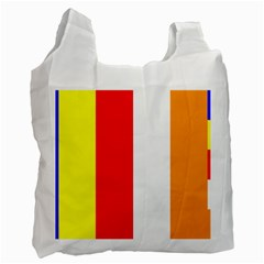 International Flag Of Buddhism Recycle Bag (two Side)  by abbeyz71