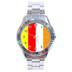 International Flag Of Buddhism Stainless Steel Analogue Watch by abbeyz71