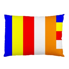 International Flag Of Buddhism Pillow Case (two Sides) by abbeyz71